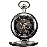 CNluca Mecánico Creativo Reloj de Bolsillo Cadena de aleación Personalizado Exquisito Reloj de Bolsillo de Moda Universal para Mujeres Hombres