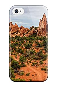 Awesome Arches National Park Usa Digital Flip Case With Fashion Design For Iphone 4/4s
