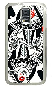Sakuraelieechyan Poker Face Samsung Galaxy S5 Transparent Sides Hard Shell Case