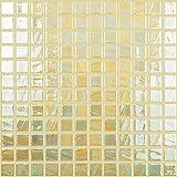 #3: Mosaic Glass Tile. The 700 Series. Lemon Iridescent (Single Sheet)
