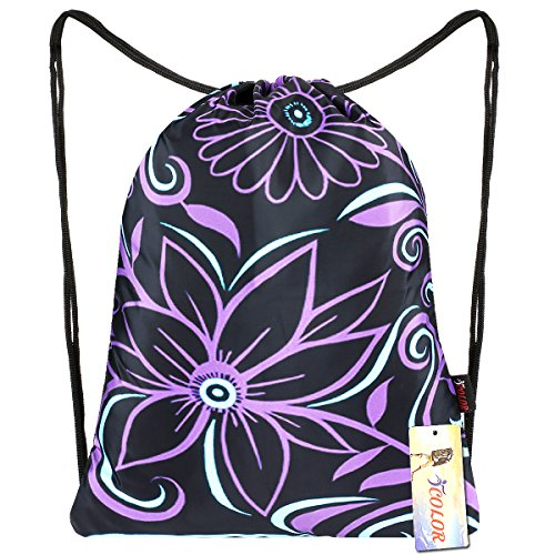 iColor Sackpack,Drawatring Backpacks StylishMultipurpose Nylon Drawstring Bags