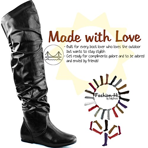 Black Fashion 6 B DailyShoes High Knee M the Over Hi Thigh Boots Pu US pdd4HwWq8