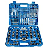 HHIP 1011-0111 110 Piece #4-3/4'' and M6-18 Carbon Steel Tap and Die Set