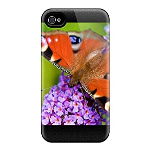 Iphone 4/4s Vcy4573ESFU Allow Personal Design Beautiful Butterfly Image Shock-Absorbing Hard Phone Case -InesWeldon