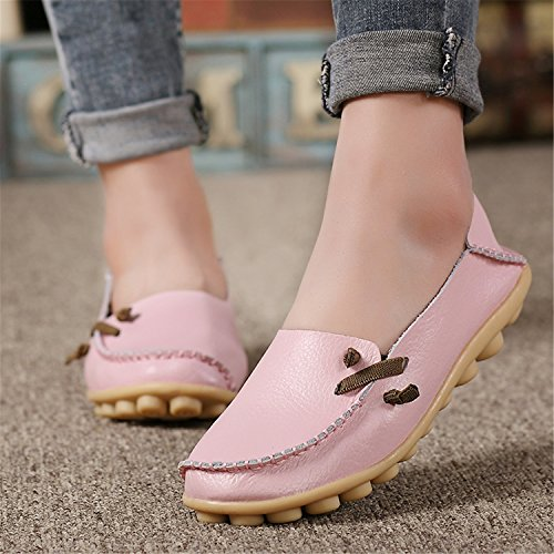 Colors 34 VAO Shoes Outdoor Non Khaki Beststore 44 Flat Shoes Shoes Slip Women 16 Genuine Size Lace Casual up Leather Peas wHEdqS