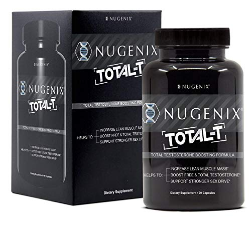 Nugenix Total-T: Men's Total Testosterone Boosting Formula. All New, High Potency, High Bioavailibility Testosterone Boosting Ingredients. Helps with Energy, Muscle, Libido, Stamina, and Drive (Support 90 Caps)