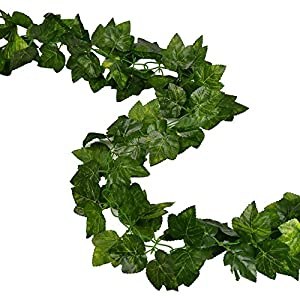 Rurality 16 Ft - 2 Artificial Ivy Silk Greenery Fake Hanging Vines Wedding Garland 50