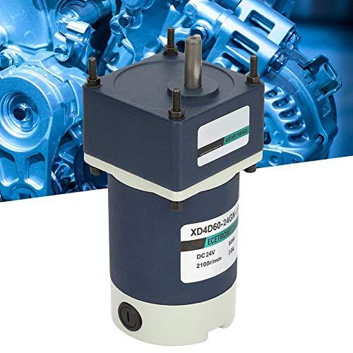 Gulakey 永久磁石モーター、DC24V 60W調節可能な速度ギヤードモータの高ねじりメタルギアモーター(150,15RPM)