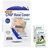 RespLabs CPAP Hose Cover, Tube Wrap | 6 ft. Soft Touch Washable Fleece