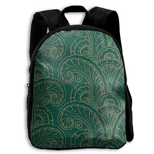 Art Deco Acanthus Moderne Kid Backpacks For Boys And Girls Preschool Backpack School Bag