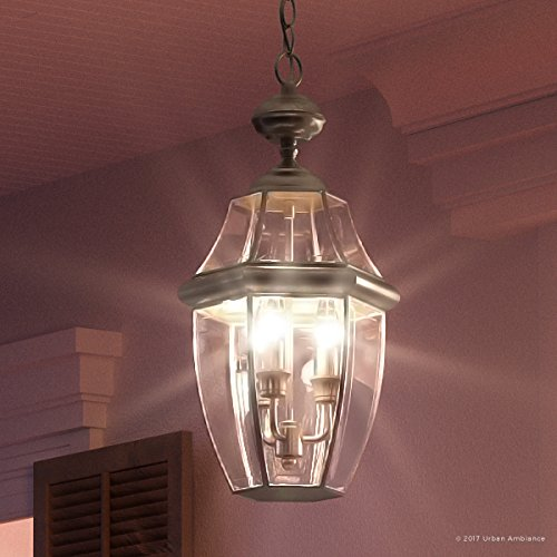 Luxury Colonial Outdoor Pendant Light, Large Size: 19
