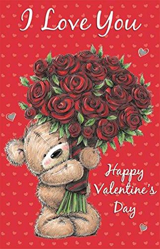 Gigante abierto de San Valentín Día Poppet Tarjeta - oso ...
