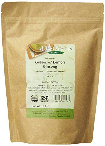 Thé de produits en vrac Davidson, vert citron avec Ginseng, 16 onces Sac