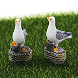Yiphates 2Pcs Miniature Seagulls, Resin Seagulls Mini Plant Pots Bonsai Craft Micro Landscape DIY Decor For Sale