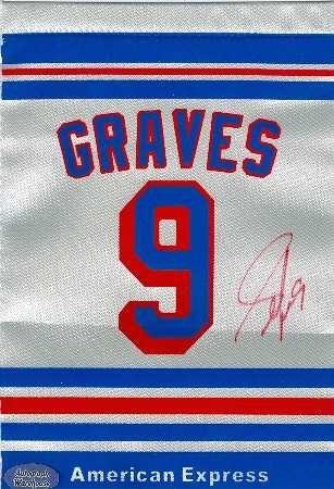 Autograph Warehouse 70587 Adam Graves Autographed Adam Graves Night Banner New York Rangers 1994 Stanley Cup Champion