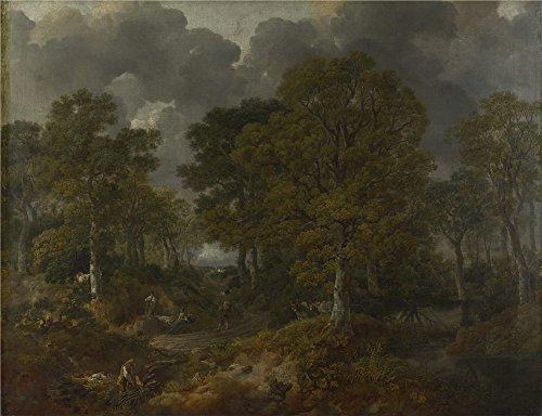Oil Painting 'Thomas Gainsborough Cornard Wood Near Sudbury Suffolk', 30 x 39 inch / 76 x 99 cm , on High Definition HD canvas prints is for Gifts And Foyer, Nursery And Powder Room Decoration, online