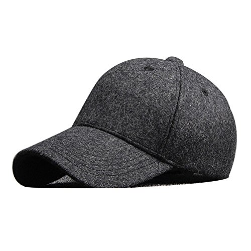 LINGGO Unisex Adult Fedoras Autumn Winter Cashmere Thickening Baseball Cap Warm Outdoor Peaked Cap 3 - Baseball Cashmere Cap