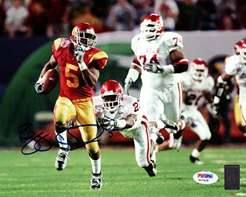 (Reggie Bush Autographed 8x10 Photo USC Trojans PSA/DNA)