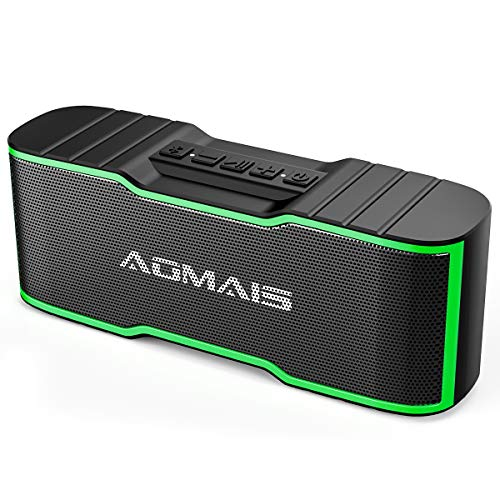 AOMAIS Sport II Mini Portable Bluetooth Speakers with 10W Superior Sound, Built-in Mic, Stereo Pairing, IPX4 Water-Resistant Wireless Speaker for Shower, Pool, Outdoors, Travel, Beach (Green)