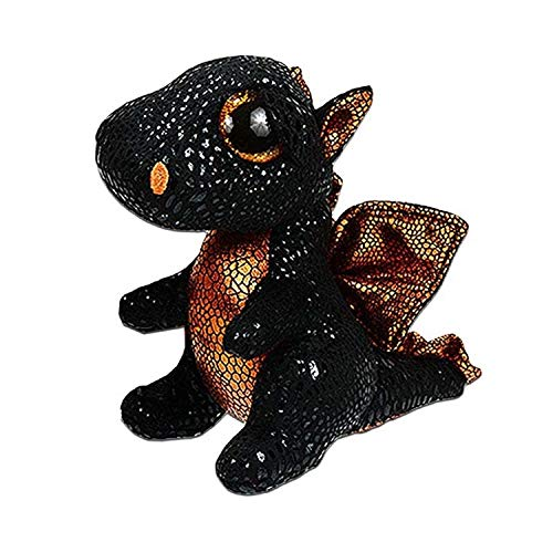 Scottish Highland Cow, Dog, Olw, Dange Alpaca, Dragon - Plush Toys Big Eyes Stuffed Animal Soft Toy Kids Gift ( 15cm) ( Golden Wings Dragon) ()