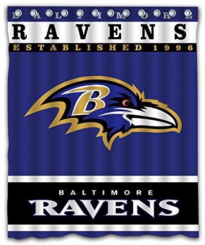 - Sonaby Custom Baltimore Ravens Waterproof Fabric Shower Curtain For Bathroom Decoration (60x72 Inches)