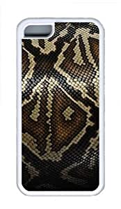 iPhone 5C Cases, iPhone 5C Case - Snake Skin Cool TPU Case Cover Protector For iPhone 5C - White by patoner