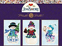 Mill Hill Jim Shore Beads Cross Stitch Kit Set of 3 ~ SNOWMEN #2051