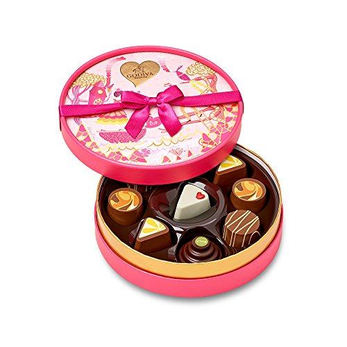 Godiva Chocolatier 9 Piece Valentine's Day Round Gift Box