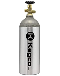 5lb CO2 Tank Aluminum Cylinder with CGA320 Valve