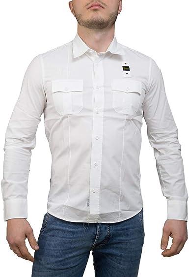Blauer Camicia Manica Lunga Camisa Casual para Hombre