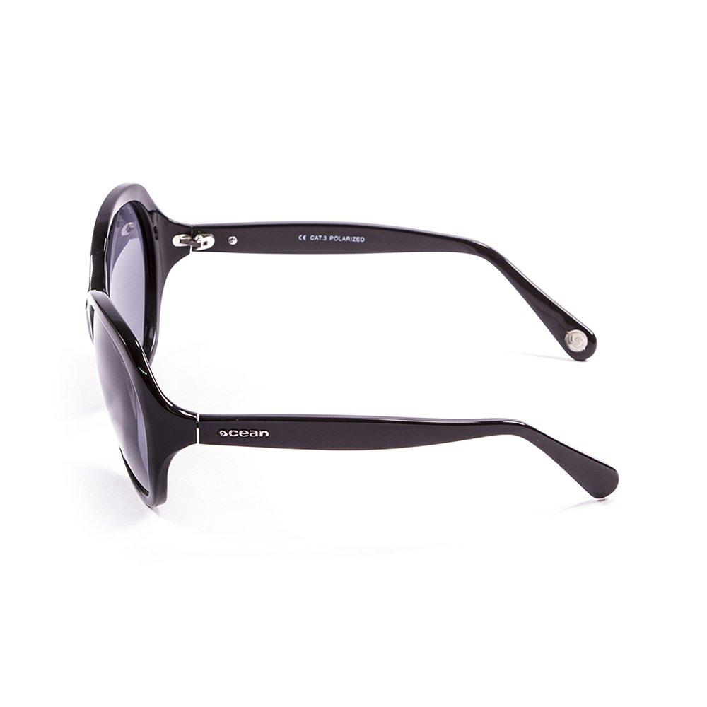 Ocean Sunglasses Elisa - lunettes de soleil polarisées - Monture : Noir Laqué - Verres : Revo Bleu (15300.1) ZFov9