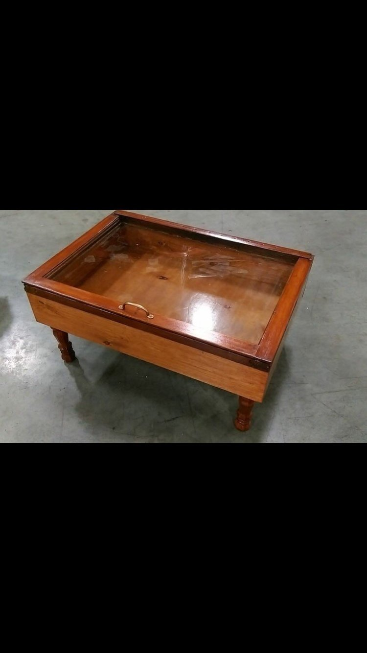 Amazon.com: Single Pane Shadow Box Table   Wood Shadow Box Coffee Table    Window Coffee Table   Display Coffee Table   Storage Coffee Table   Rustic  Coffee ...