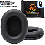 Premium Sony MDR 7506 Replacement Pads by Wicked Cushions | Innovative Sony 7506 Replacement Ear Pads With Enhanced Memory Foam & Unmatched Durability | Compatible with MDR 7506 / MDR V6 / MDR CD900ST