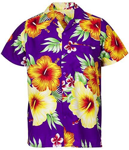 , Shortsleeve, Paradise Flower, Purple, L ()