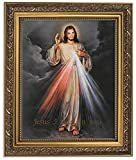 jesus picture - The Divine Mercy Jesus Christ Print in 13 Inch Gold Finish Frame by Gerffert