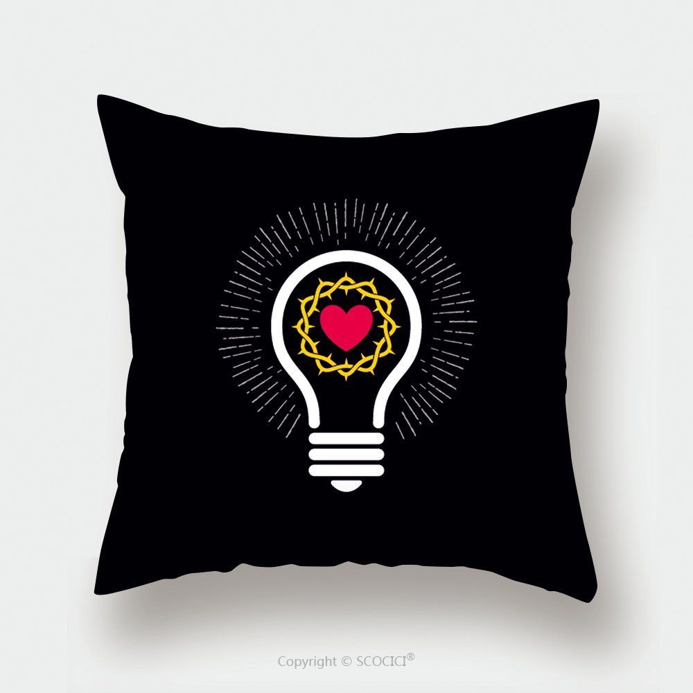 Custom Satin Pillowcase Protector Logo Church Christian Symbols Lamp And Crown Of Thorns 391279954 Pillow Case Covers Decorative