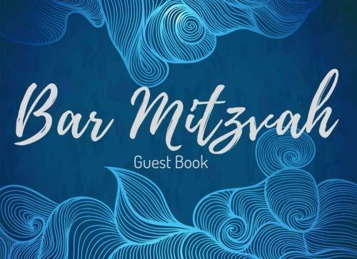 Bar Mitzvah Guest Book: Registration - Jewish Boy's 13th Birthday Party Celebrations - Signature Memory Keepsake - Visitor Memory Registry (Bar Mitzvah Congratulations)