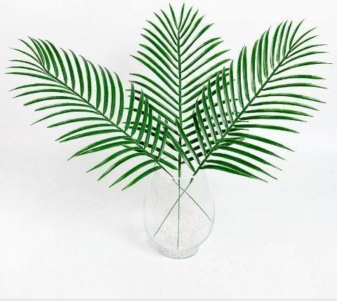 Urgrace 10Pcs artificiale ombre Kwai Leafs ramo finto palma piante erba fiore per parete casa giardino matrimonio fai da te Decorazione