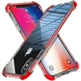MATEPROX iPhone Xs Case iPhone X Case Clear Shield Heavy Duty Anti-Yellow Anti- Scratch Shockproof Cover Compatible with iPhone Xs/X 5.8'' (Red)