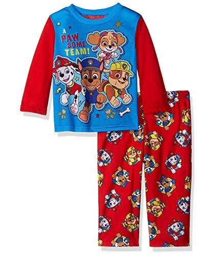 Nickelodeon Boys' Toddler Paw Patrol 2-Piece Pajama Set, Paw party, 3T