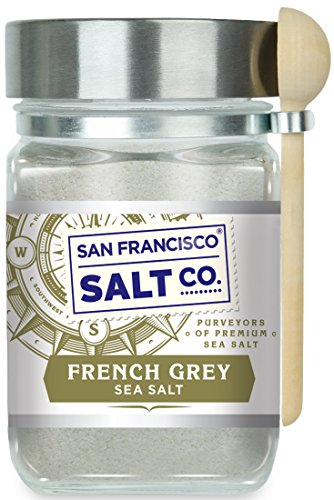 8 oz. Chef's Jar - French Grey Sea Salt, Sel Gris pure & natural sea salt from France