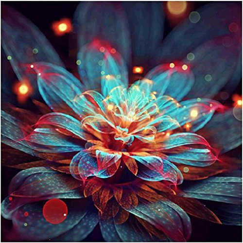 Price comparison product image WM & MW Clearance 5D Diamond Painting by Number Kits,  Creative Flower DIY Rhinestone Pasted Embroidery Paintings Pictures Arts Craft Wall Home Decor (A)