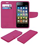 Acm Mobile Leather Flip Flap Wallet Case for Micromax Bolt A067 Mobile Cover Pink