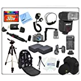 Ultimate Series Accessory Kit For The Nikon D600, D800, D800E Digital SLR Cameras. Includes: 32GB Compact Flash Memory Card, Card Reader, Lens Pen, 59'' Tripod, Backpack/ Sling Bag, Wrap Around Case, Off Camera Shoe Cord, Right Angle Rotating Flash Bracket