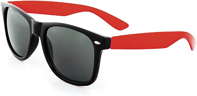 Red Lens Men/'s or Women Horn Rim Classic Retro Vintage Style Sunglasses New