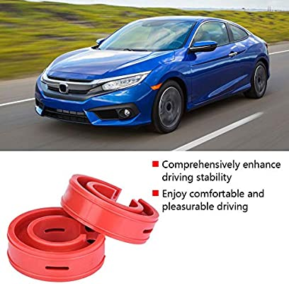 2pc Car Rubber Shock Absorber Buffer Spring Bumper Cushion Red TPE Type A-F A+