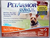 Petarmor Plus for Dogs, Kills Fleas, Ticks and Lice (4-22 lbs)