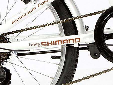 Unisex Adulto Moma Bikes Plegable Ruedas 20 Shimano Blanco Aluminio Bicicleta