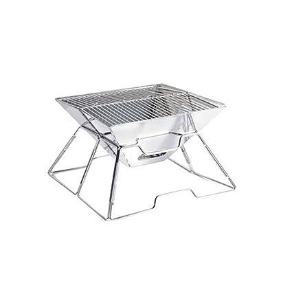 WLHW Planchas eléctricas Parrilla barbacoa portátil al aire libre gruesa de acero inoxidable plegable comida salvaje