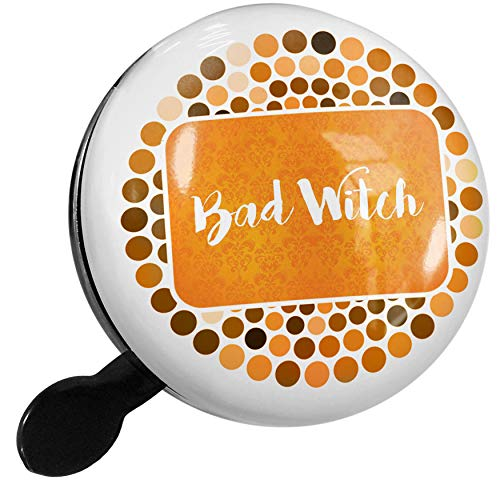 NEONBLOND Bike Bell Bad Witch Halloween Orange Wallpaper Scooter or Bicycle Horn -